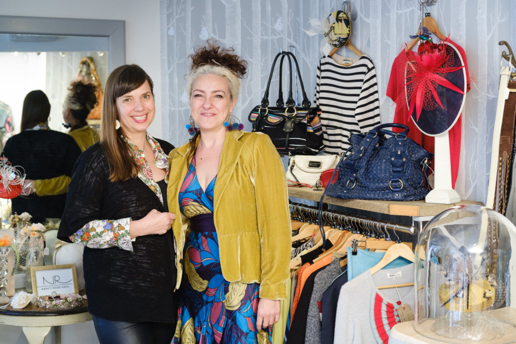 Colourful Personal Brand Photography with business owners from Sumptuous Designerwear Bath