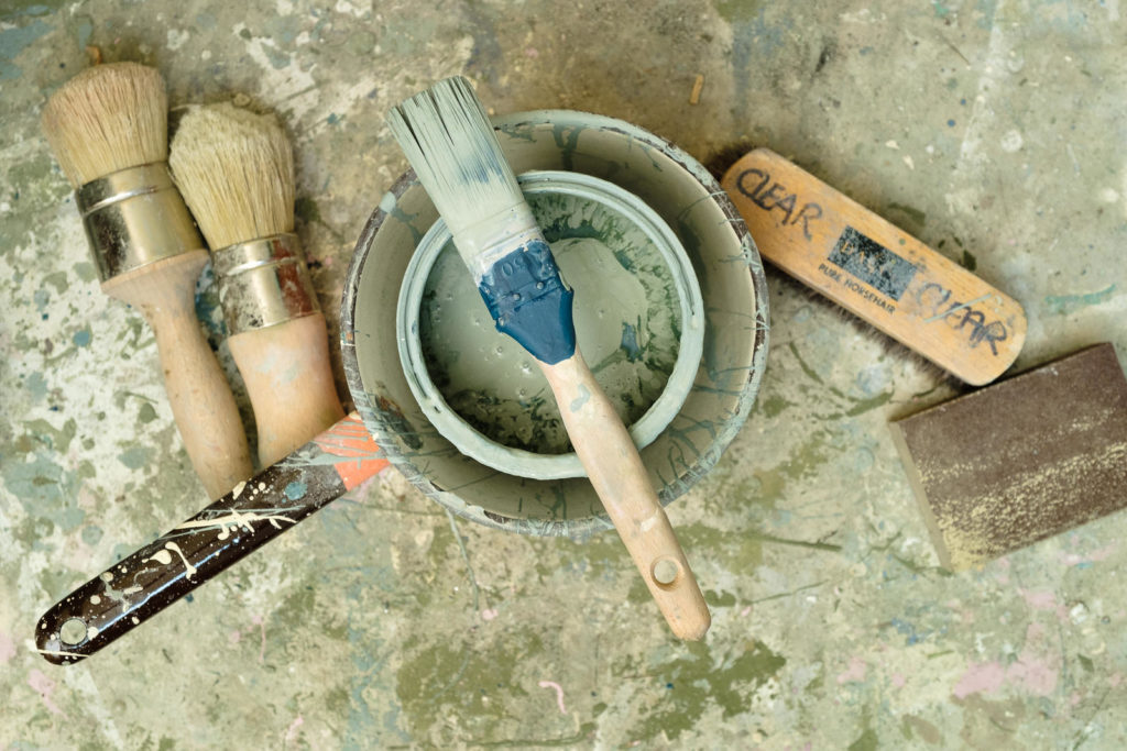 Personal Branding Photography with Number Ten Interiors - paints and brushes - tools of the trade