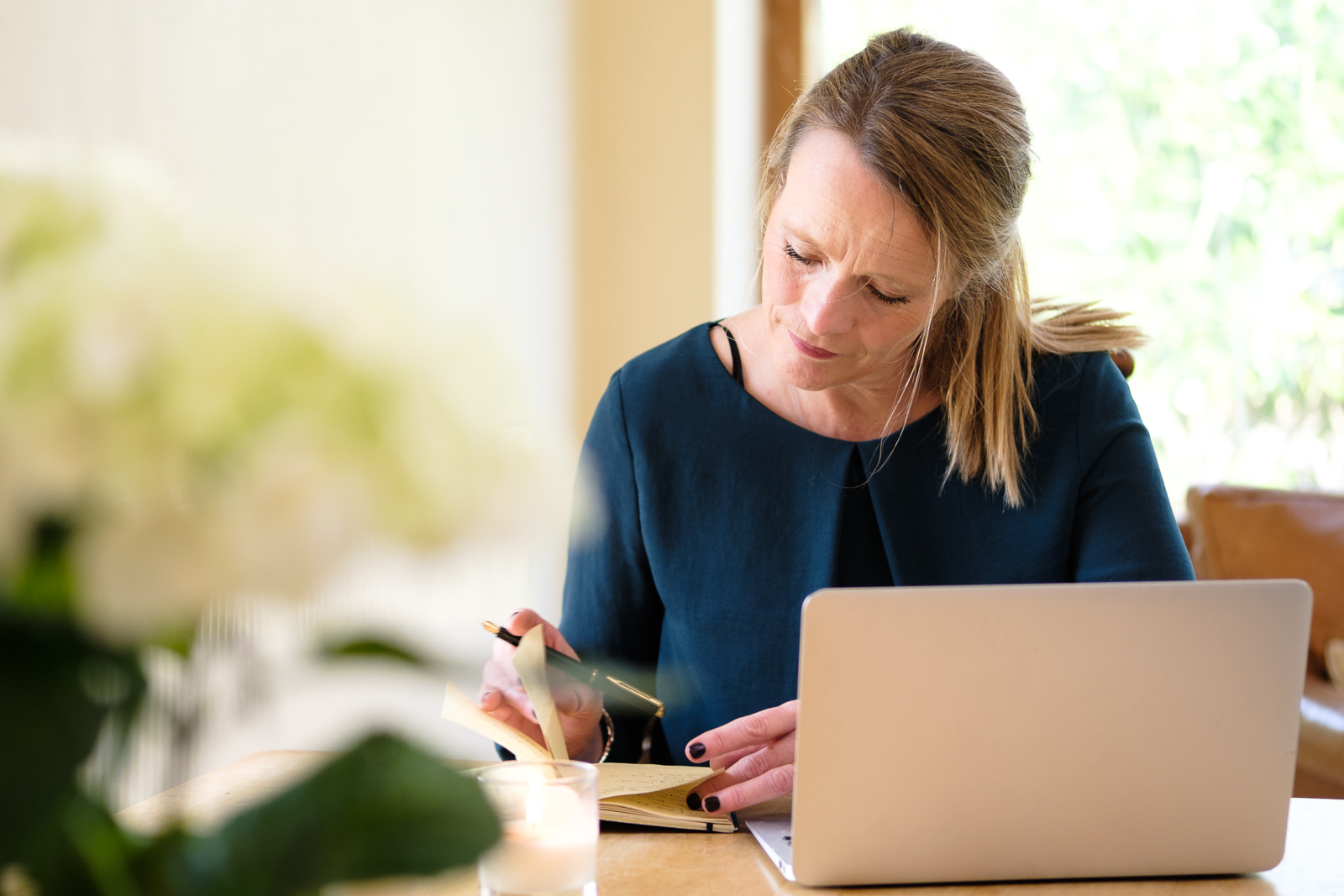 Personal Branding Photography - with Cathy Biggs of Limelight Bath working at home