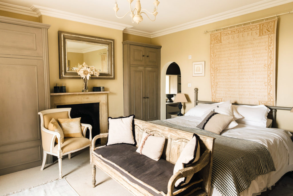 Corporate marketing photography with classically styled master bedroom