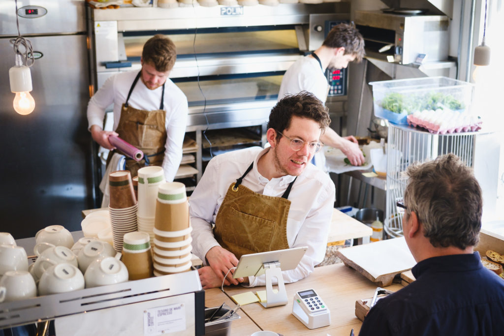 Personal Branding Photography - serving customers at Landrace bakery in Bath