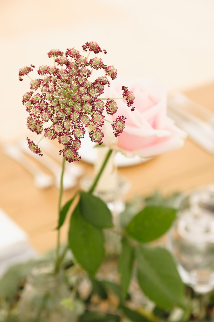 Wedding photography with floral decorations at English country wedding