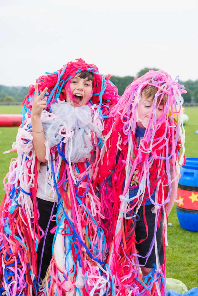 Dressing up and creative play at The Try Games 2019