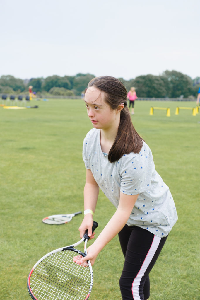 Teenage girl enjoying new racket sports at the Try Games 2019