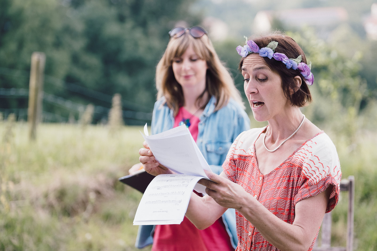 Corporate marketing photography with outdoor summer production by the Kilter Theatre at Bath City Farm