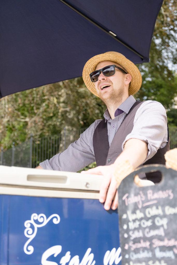 Ice cream vendor at Bath property launch