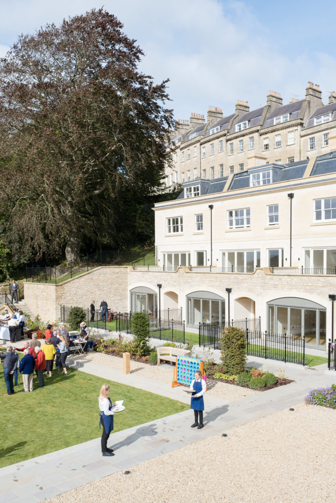 Wide view of Hope House property development in Bath