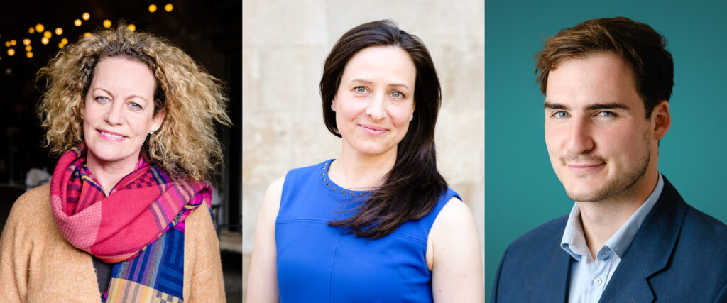 Triptych of business headshots and personal branding by Nick Cole Photography