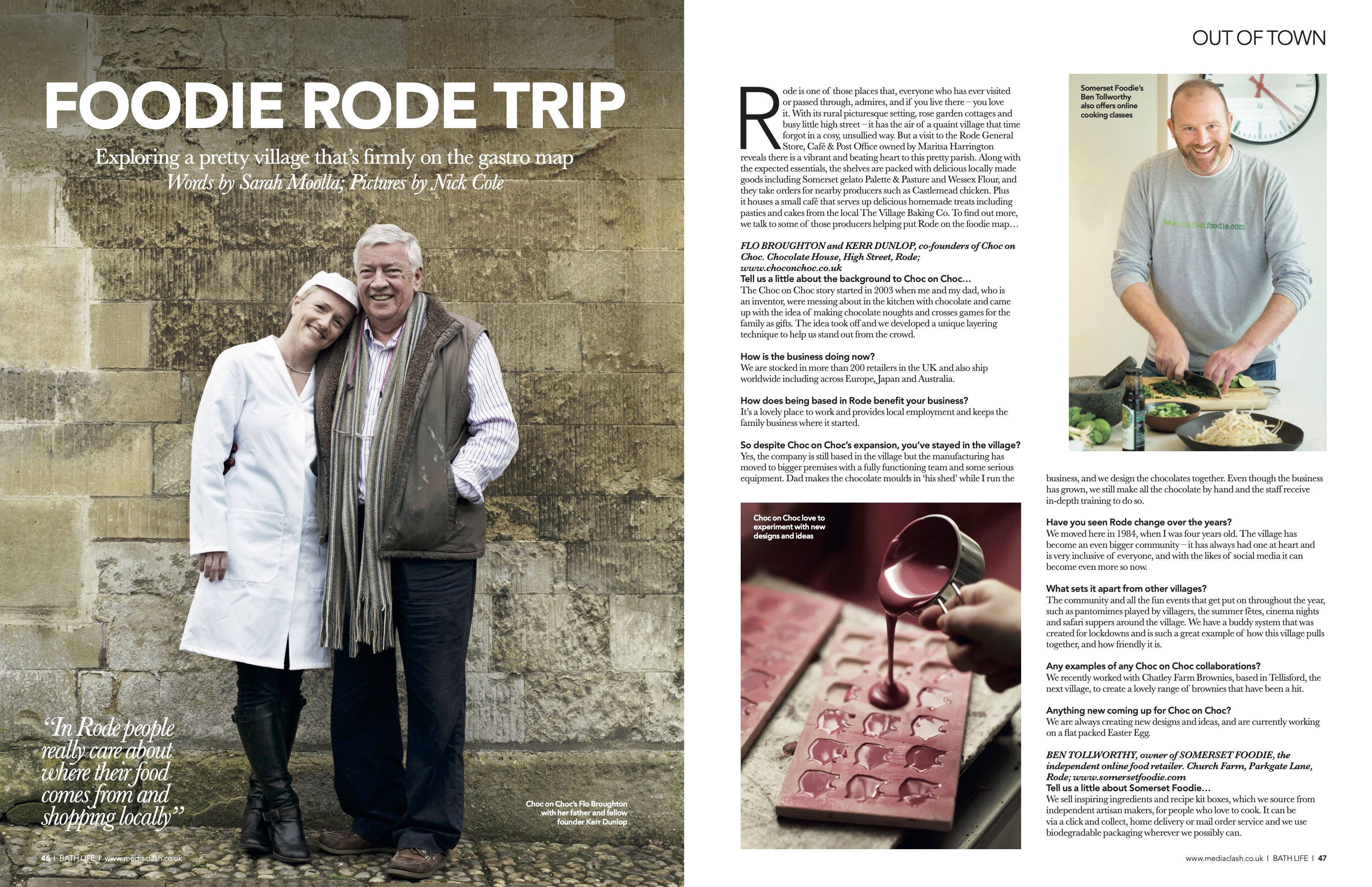 Bath Life Feature - the Foodie Rode Trip with photos by Nick Cole Photography