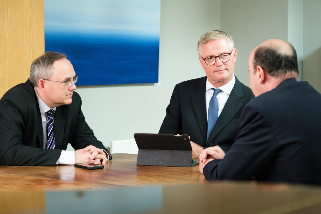 Business photograph of Bristol based lawyers in conversation