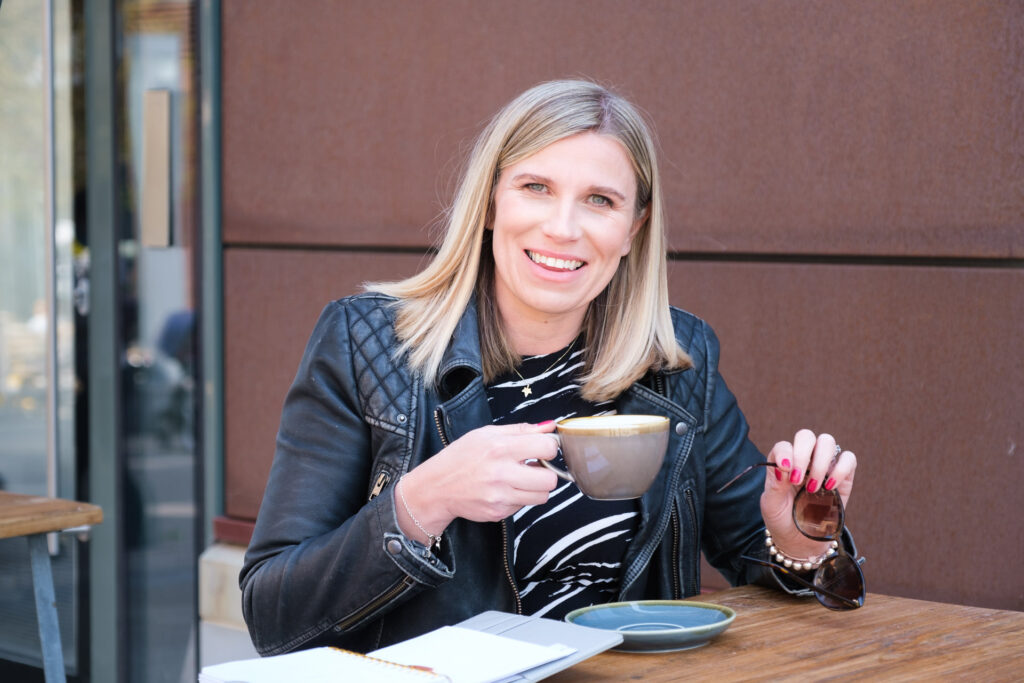 Bristol business owner relaxing with a coffee - Photography by Nick Cole Photography